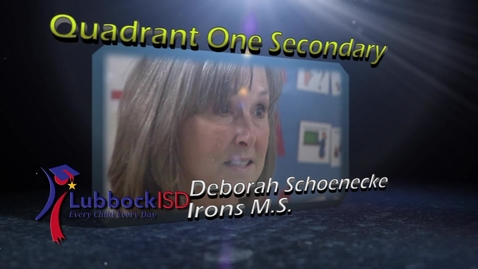 Thumbnail for entry Teacher of the Year Quadrant One Secondary - Deborah Schoenecke