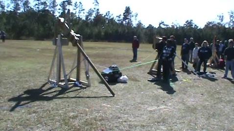 Thumbnail for entry Keenan Trebuchet -39 Yard Distance Launch