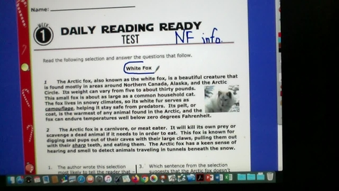 Thumbnail for entry READING TEST VIDEO 11-20