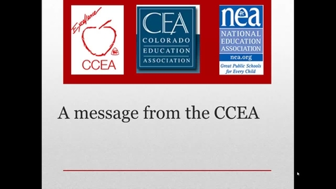 Thumbnail for entry A message from CCEA regarding Amendment 66