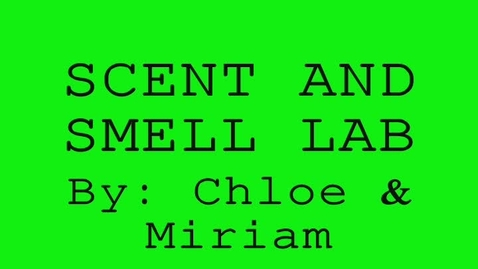 Thumbnail for entry scent&smell lab