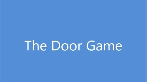 Thumbnail for entry The Door Game