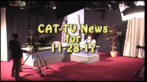Thumbnail for entry Weekly Newscast for 11-28-17