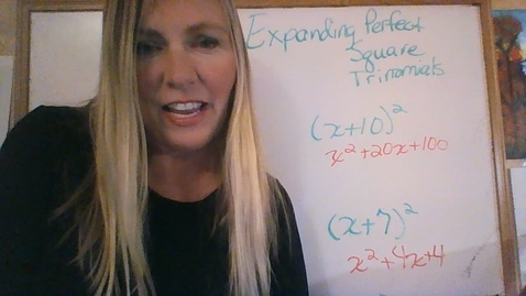 Thumbnail for entry Brighton Adventist Academy Grade 8 Expanding Perfect Square Trinomials