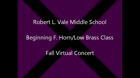 Thumbnail for entry 2012-2013 Beg. Horn & Low Brass fall Concert