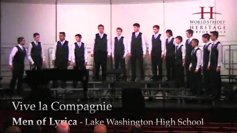 Thumbnail for entry LWHS Men of Lyrica: Vive la Compagnie (Repost)