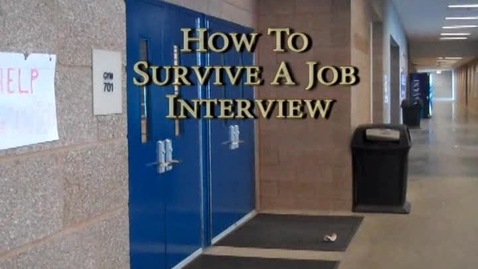 Thumbnail for entry How to get a job