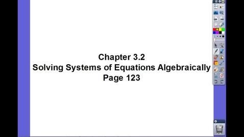 Thumbnail for entry Algebra II Ch 3.2