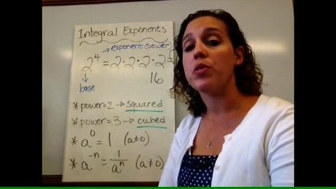 Thumbnail for entry Pre-Alg - Sect 1-12 Integral Exponents