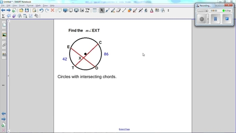 Thumbnail for entry Special Angles and Arcs in Circles, intersecting chords in a circle.