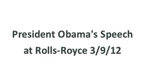 Thumbnail for entry President Obama Speech Excerpt