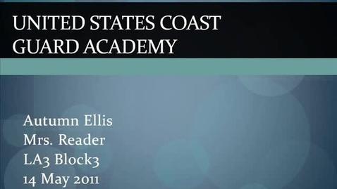 Thumbnail for entry US Coast Guard Academy