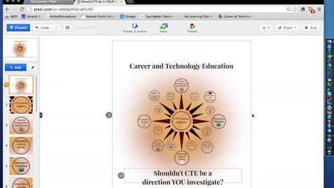 Thumbnail for entry CTE Career Clusters (Prezi)