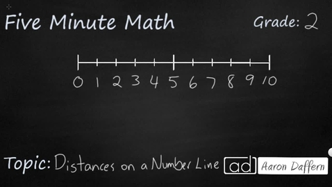 Thumbnail for entry 2nd Grade Math Distances on a Number Line