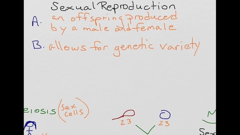 Thumbnail for entry Sexual Reproduction and Meiosis in 2 Minutes