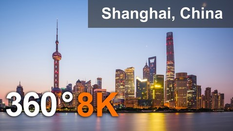 Thumbnail for entry 360 video, Shanghai, China. The most populous city in the world. 8K aerial video