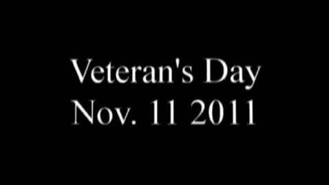 Thumbnail for entry Veteran's Day 2011