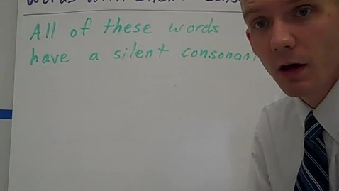Thumbnail for entry SAL Words with silent consonants