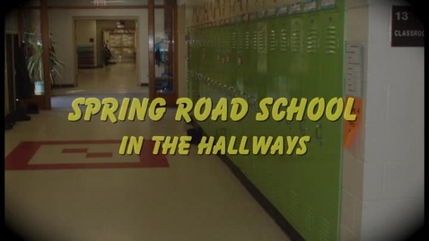 Thumbnail for entry Spring Road School in the Hallway