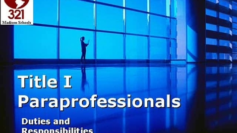 Thumbnail for entry Paraprofessionals - Appropriate Duties Under Title I