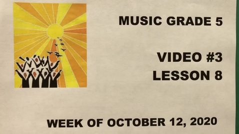 Thumbnail for entry Music Grade 5 Video #3