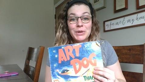 Thumbnail for entry Mrs. Kratochvil Reading Art Dog