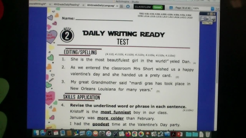 Thumbnail for entry WRITING and READING Tests