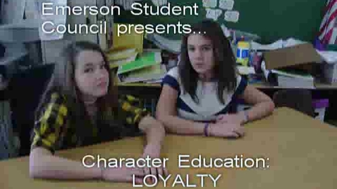 Thumbnail for entry Character Education at Emerson: Loyalty