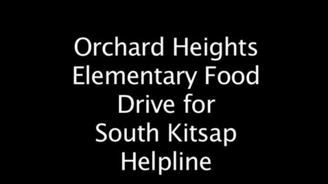 Thumbnail for entry Orchard Heights Food Drive