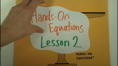 Thumbnail for entry Hands On Equations Level 2