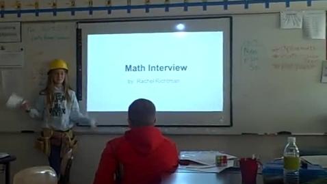 Thumbnail for entry Rachel R math career