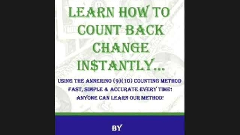 Thumbnail for entry Learn How To Count Back Change Instantly...