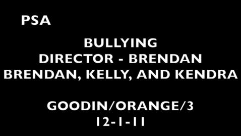 Thumbnail for entry Bullying Makes Me Feel...