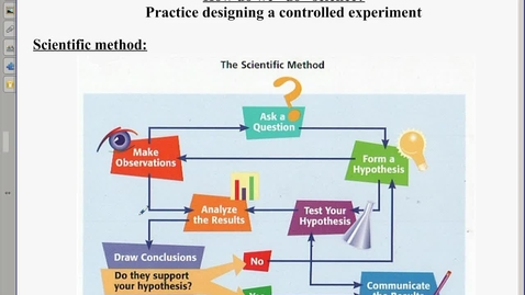 Thumbnail for entry Scientific method Notes and Lab Set up Notes
