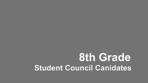 Thumbnail for entry 2015 KCMS Student Council 8th Grade Candidates