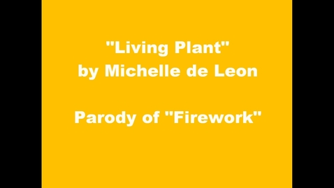 Thumbnail for entry Living Plant