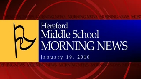 Thumbnail for entry WHMS Morning News 1-19-2010