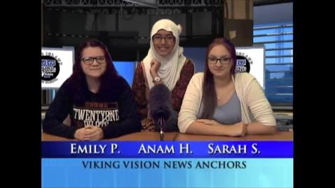 Thumbnail for entry Viking Vision News Tues 10-6-2015