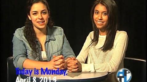 Thumbnail for entry Monday, April 8, 2013