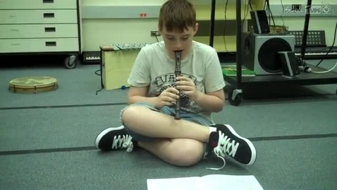 """Thumbnail for entry Seth S. playing """"Boat Song"""" in Mrs.Hendrix music class, Dabbs Elementary, 2011"""