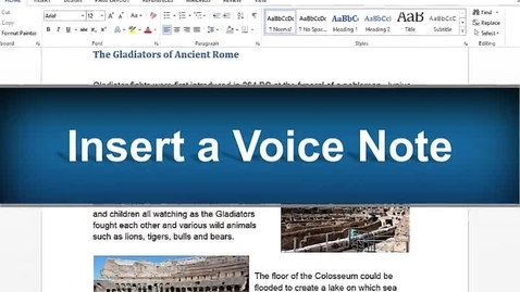 Thumbnail for entry Voice Note Feature - Read&Write Gold Version 11