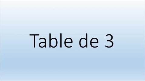 Thumbnail for entry Addition  Table de 3