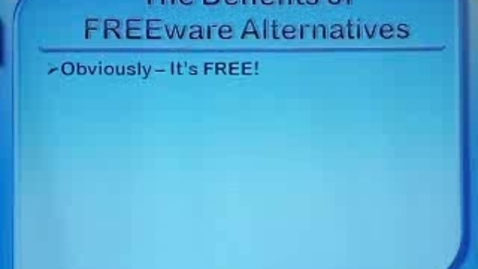 Thumbnail for entry Tech Tools for Teachers Part 2: Benefits and Drawbacks of Freeware