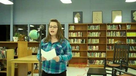 Thumbnail for entry Vance Middle School Oratorical Contest_Anna