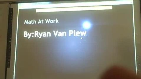 Thumbnail for entry Ryan V math career