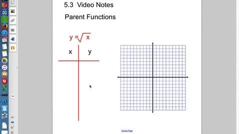 Thumbnail for entry 5.3 Graphing radicals Video notes