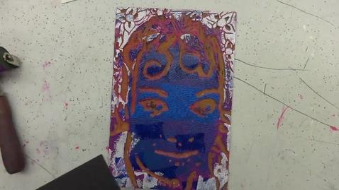 Thumbnail for entry Linoleum Block Print 10: Creating a Print