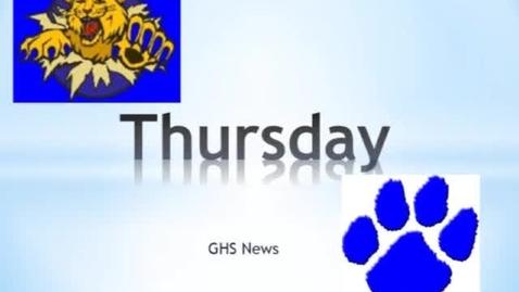 Thumbnail for entry GHS News February 7, 2013