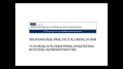 Thumbnail for entry Building Administrator Professional Practice Scoring Form