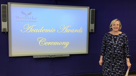 Thumbnail for entry WESTLAKE '19-'20 Academic Awards Ceremony